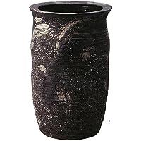 信楽焼 黒砂ビードロ傘立(全高52cm×全幅32.5cm)