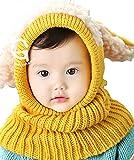 京都おかげさまで 選べるカラー 5色 ウサギちゃん ニット帽子 赤ちゃん ニット帽 ベビー & キッズ (イエロー)