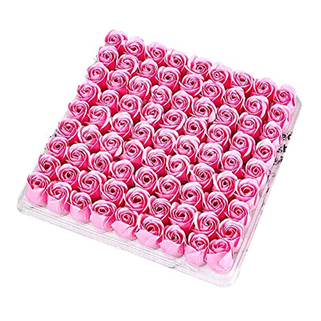 テクトニックボリューム悪夢RETYLY 81個の薔薇、バス ボディ フラワー?フローラルの石けん 香りのよいローズフラワー エッセンシャルオイル フローラルのお客様への石鹸 ウェディング、パーティー、バレンタインデーの贈り物、ピンク