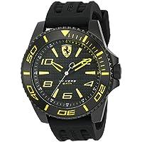ブラック メンス アナログ カジュアル クォーツ Ferrari 時計 XX Kers ???? 0830307