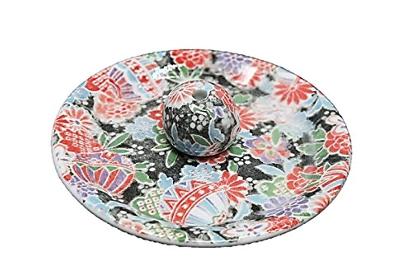 土曜日シーズン虫9-13 京雅黒 9cm香皿 お香立て お香たて 陶器 日本製 製造?直売品