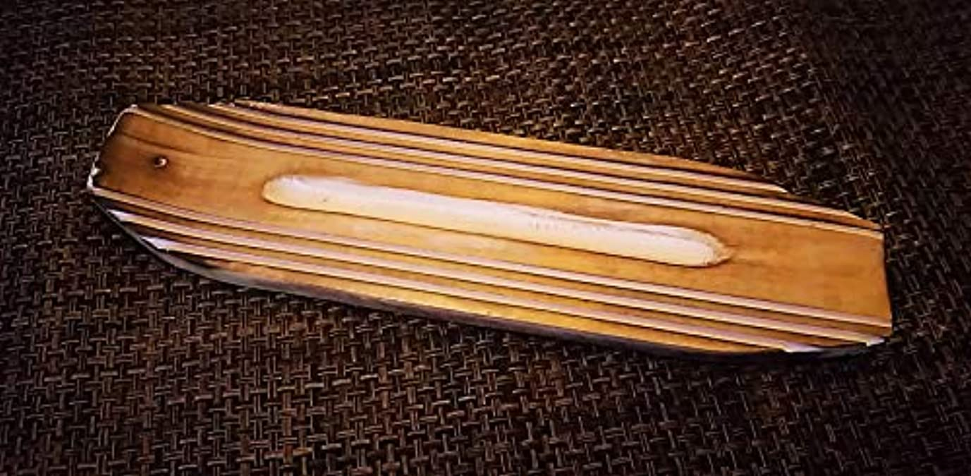 バインド飾り羽エール日本ネットワーク サーフボード マンゴーウッド お香立て