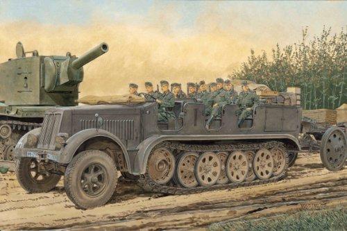 1/35 ドイツ Sd.Kfz.7 8tハーフトラック 初期生産型 w/クルー (スマートキット)