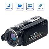 ビデオカメラ デジタルカメラ フルHD 1080p カムコーダー ナイトビジョン 夜間カメラ 18倍率デジタルズーム 一時停止機能 3.0インチLCD 270°回転液晶画面 日本語説明書同梱