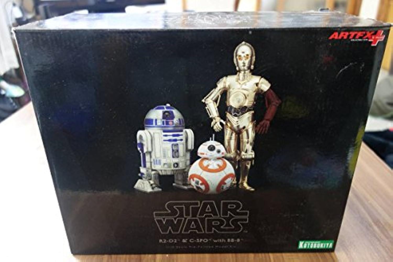 開封  コトブキヤ ARTFX+ スターウォーズ フォースの覚醒 R2-D2&C-3PO with BB-8 110スケール フィギュア セット KOTOBUKIYA