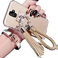 Galaxy 2018 A8Plus/A730 Shiny Hand Sling ケース, Very Light Slim Elegent Reflective Mirror Style, WEIFA 2018 Newest Super Cool Personal CellPhone カバー ケース For Samsung Galaxy A8+/Plus Gold