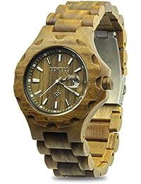 メンズ 時計 木製腕時計 欧米に圧倒的な人気が持っているwood watch 優しい木の温もりを生かした腕時計 カレンダー付き 話題性 男性用 人気ブランド メンズ 時計