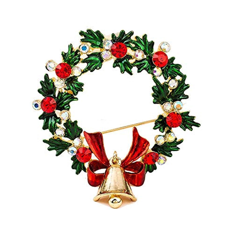 クリスマスグリーンフラワーブローチ、ブローチピンクリスマスギフト