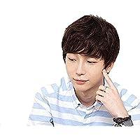 J&S 人毛 手植え 医療用 メンズ ウィッグ カジュアル マニッシュショート 通気性抜群 高品質 イケメン かつら ビジネス 男性用