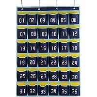WODISON学校教室セルPhones Hangingポケットチャートをドアのカードバッグ 36 pockets レッド