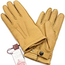 Peccary Gloves Cashmere Lined 15-1564: Cork