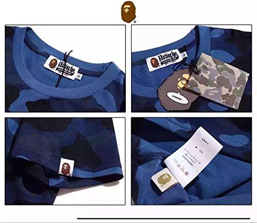 BAPE BY A BATHING APE (エーエイプ バイ ア ベイシング エイプ) メンズ半袖Tシャツ メンズTシャツ カジュアル (M, A) [並行輸入品]
