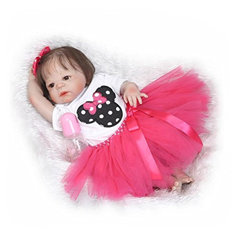 oumeinuo 22インチ56 cm Realistic Looking Lifelike Reborn人形Boyフルボディシリコン新生児赤ちゃん人形幼児用Toy for Kid Girl人形