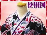 振袖&浴衣にリバーシブルレース重ね衿紫&ピンク