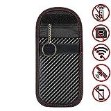 Takelablaze スマートキー 電波遮断ポーチ リレーアタックによる車の盗難防止 WIFI GSM LTE NFC RF 完全遮断 カーセキュリティ ブロッキングポーチ 防犯対策 スキミング防止 カーボン調