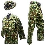 陸上自衛隊 迷彩服上下ベルト・ブーニーハットセット 陸上自衛隊迷彩戦闘服3型 M