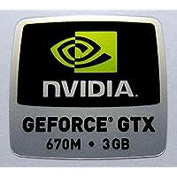 元Nvidia Geforce GTX 670M 3GBステッカー18x 18mm [ 868]