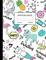 "Knitting Paper: Graph Notebook and Journal for Patterns | 4:5 Ratio | 100 pages | Letter Format 8.5""x11"" 
