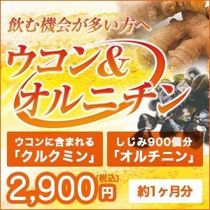 ウコン サプリ ( 日本製 ) 美容 健康 サプリメント [乾杯前の新習慣] クルクミン オルニチン [ ウコン&オルチニン 1袋 ] 60粒入 (約1か月分)