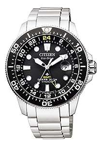 [シチズン] 腕時計 プロマスター エコ・ドライブ マリンシリーズ GMTダイバー BJ7110-89E メンズ シルバー