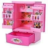 Robolife Baby Kids Educational Refrigerator Mini Fridge Appliances Kitchen Toy Pink for Girls 3+ [並行輸入品]