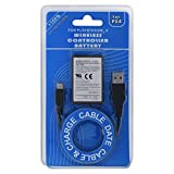 SONY PlayStation 3 ワイヤレスリモートコントローラー 充電池 PS4 KCR1410 Dualshock Replacement USB Charge Cable 1000MAH