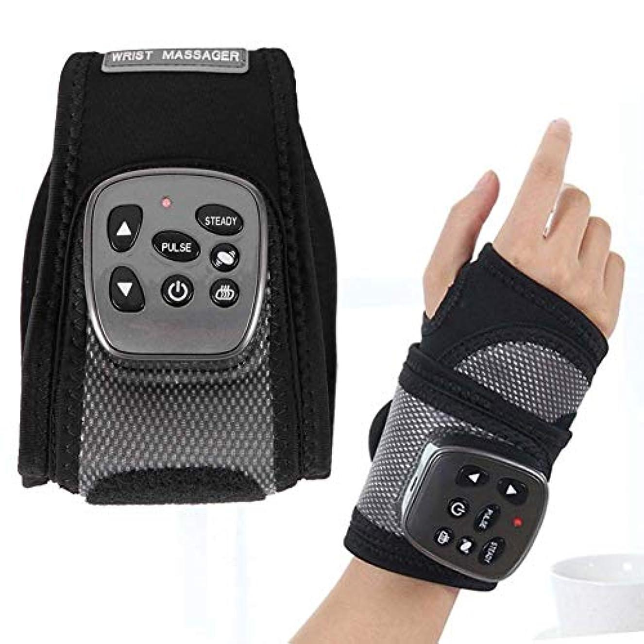 聡明キャリッジ結晶手首加熱手ブレース圧縮マッサージ手首関節炎、手根管痛、腱炎、慢性損傷、あざ、捻挫サポート