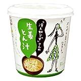 「冷え知らず」さんの生姜 カップとん汁 1食 ×6個
