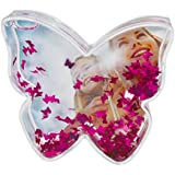 Dorr Butterfly Shaped Snow Globe with Glitter Butterflies (Colour may vary)