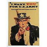 ポスター I want you for u.s. army アンクル・サム 募兵ポスター Uncle Sam B3サイズ
