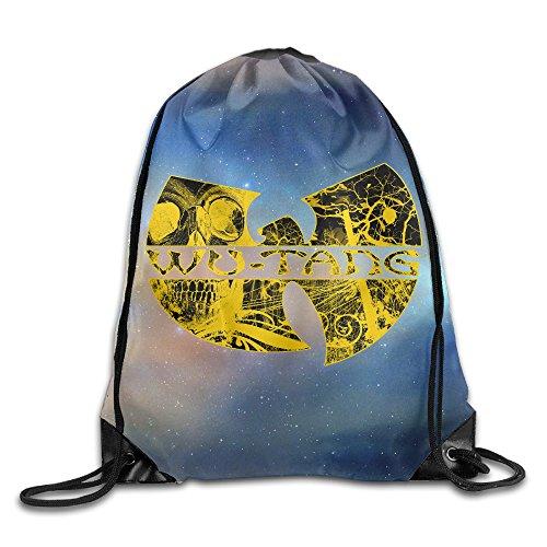 ZMONO メンズ 巾着バックパック ウータン クラン ロゴ プリント 釣り ビームポートバックパック ファッション プリント付き 2way