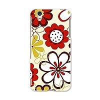 AQUOS U SHV37 カバー ケース スマコレ スマホケース オリジナルスマートフォンケース ハンドメイド 携帯ケース 花 赤色 pc アクオス ユー フラワー 000718 Sharp シャープ au エーユー shv37-000718-pc