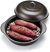 ( 石烤地瓜锅烤地瓜炉24燃气灶 IH V 带宝石 ) 搪瓷烤地瓜器 ( B886)