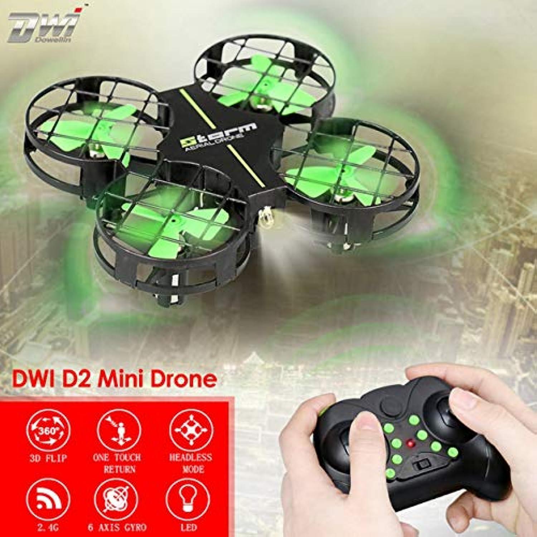 DWI D2ミニドローン3DフリップワンキーリターンヘッドレスモードH / LスピードRCクアドコプター