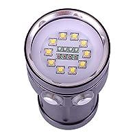 h-sang 12000ルーメンダイビングライト水中写真Professional Scuba懐中電灯with 10x XM - l2+ 4x R + 4x B LED