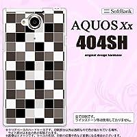 404SH スマホケース AQUOS Xx 404SH カバー アクオス ダブルエックス スクエア グレー nk-404sh-1016