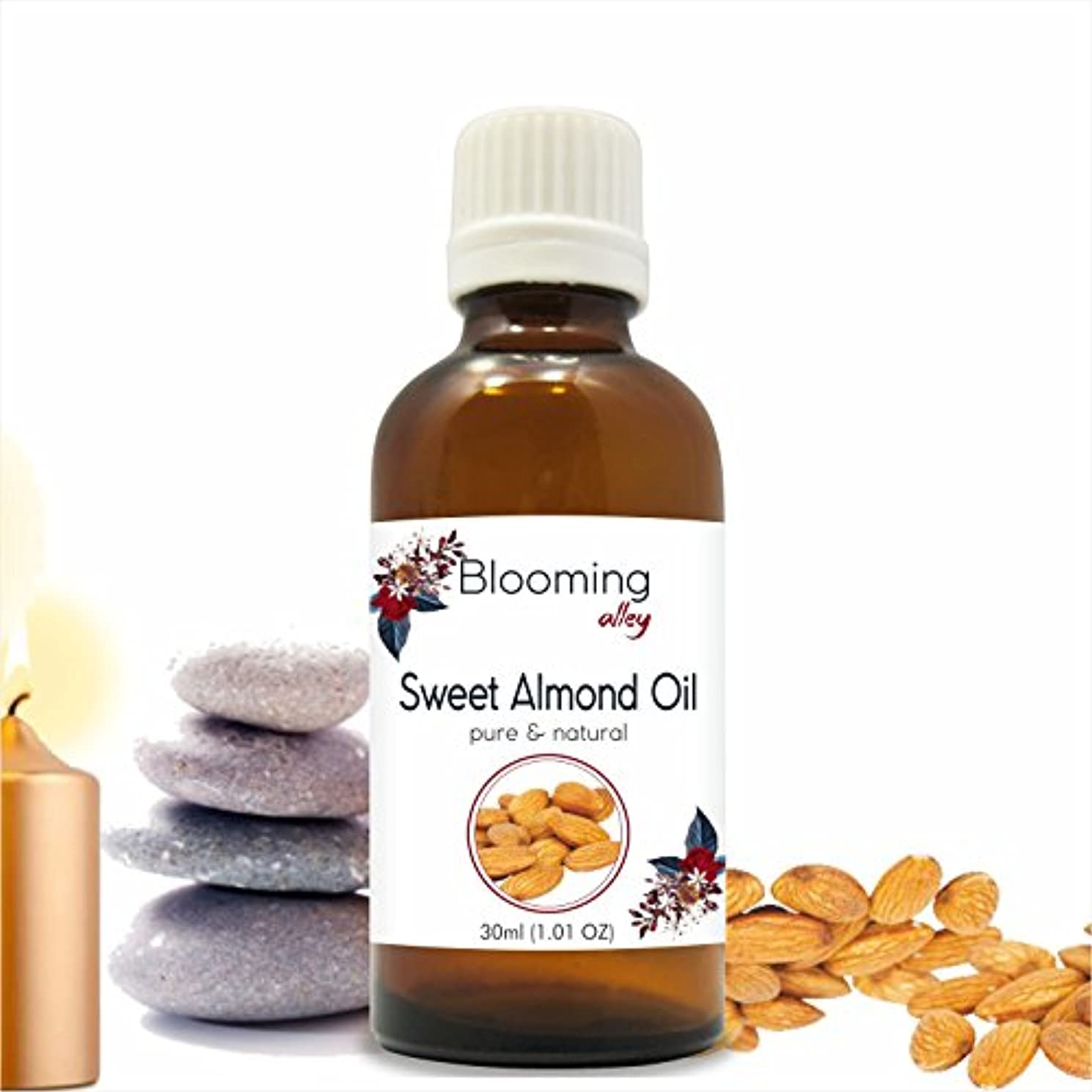 苦しみランデブースラッシュSweet Almond Oil (Prunus Amygdalus) Carrier Oil 30 ml or 1.0 Fl Oz by Blooming Alley