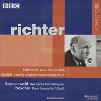 シューベルト:ピアノ・ソナタ第19番/バルトーク:15のハンガリー農民の歌/プロコフィエフ:ピアノ・ソナタ第7番(リヒテル)(1970)
