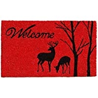 Home & More 121411729 Winter Welcome Doormat 17 x 29 x 0.60 Multicolor [並行輸入品]