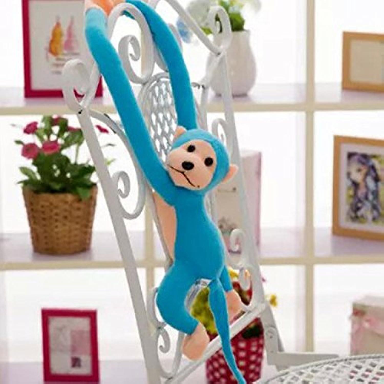 幼児期のゲーム かわいいクリエイティブ動物の子供ロングアームぬいぐるみ猿のぬいぐるみ(青)