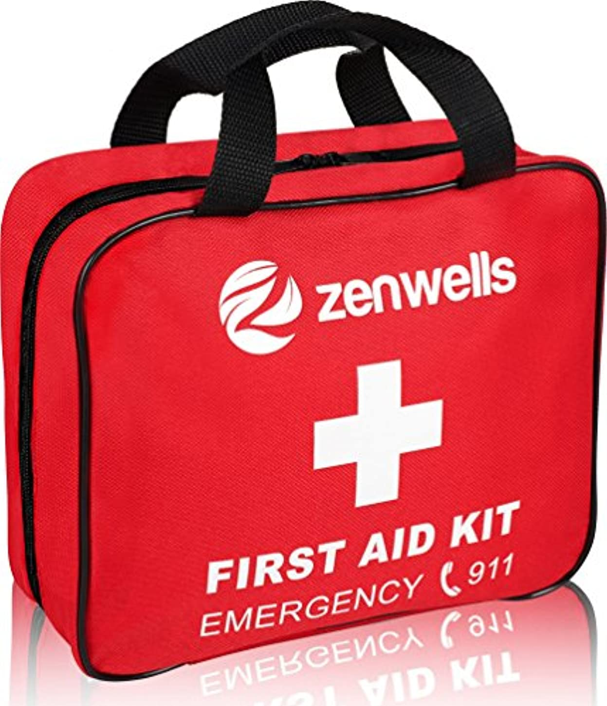 人気の罪悪感大臣First Aid Kit 170 Pieces Medical Supplies Fully Stocked in a Compact Soft Case, Best Emergency Bag for Car, Travel...
