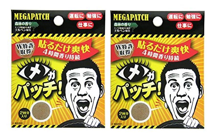主張する見物人振動するメガパッチ 2枚セット×2個セット