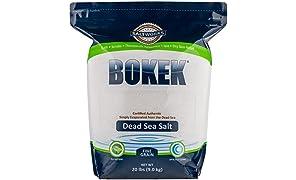 Bokek Dead Sea Salt, Fine - 20 lb Bag