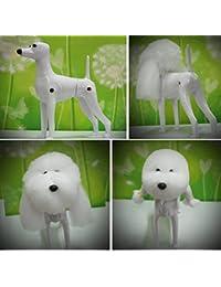 モデル Puppy Dog + Dog Hair Wig 美容練習, 犬模型 美容訓練用 マネキン Dog for 愛犬 美容師 ショップ 展示用 モデル Plastic Dog Clothing Forms Mannequin...