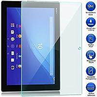 Sony Xperia Z4 Tablet docomo SO-05G au SOT31 強化ガラスフィルム 【MaxKu】 日本旭硝子素材採用 高透過率 薄型 硬度9H 飛散防止処理 2.5D ラウンドエッジ加工 自動吸着 液晶保護フィルム