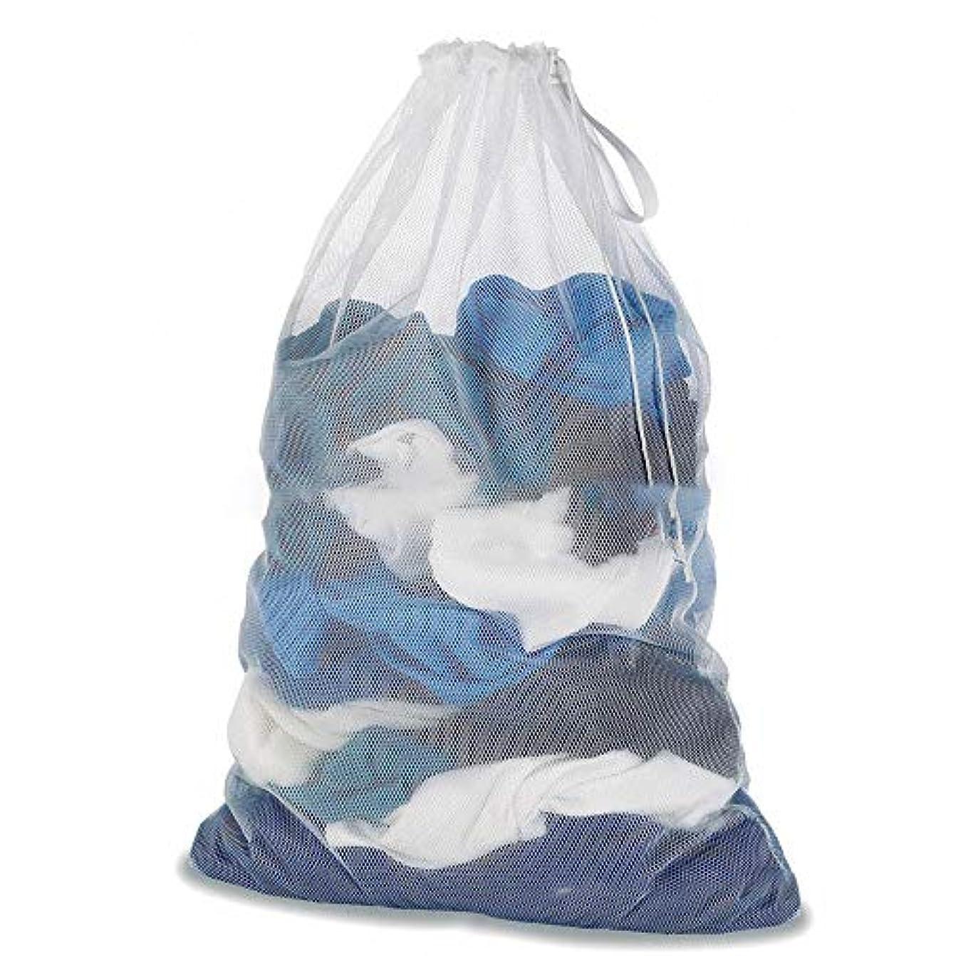 サイトライン朝ごはん理容室赤ん坊の衣服、ドローストリングが付いているジャケットのカーテンのための大きい網の洗濯袋の洗濯袋 (マルチカラー)