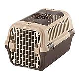 リッチェル キャンピングキャリーダブルドア Mサイズ 小型犬・猫用 ダークブラウン