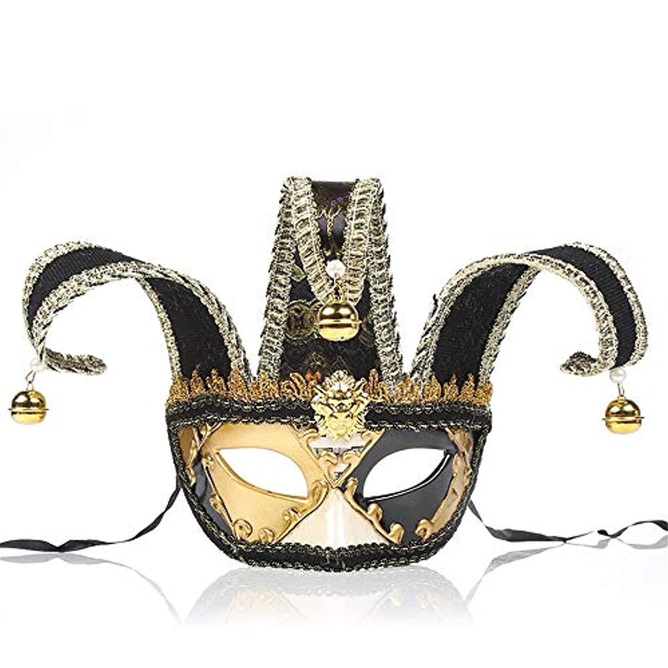 圧倒的経験者タイプダンスマスク 若者の少女ハロウィーンギフトレトロマスクホット販売マスカレードロールプレイング装飾 ホリデーパーティー用品 (色 : ブラック, サイズ : 28x16.5cm)