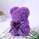 ACHICOOローズベア おもちゃ プレゼント バレンタインデー 結婚披露宴 ギフト用 ボックス ロマンチック 紫の
