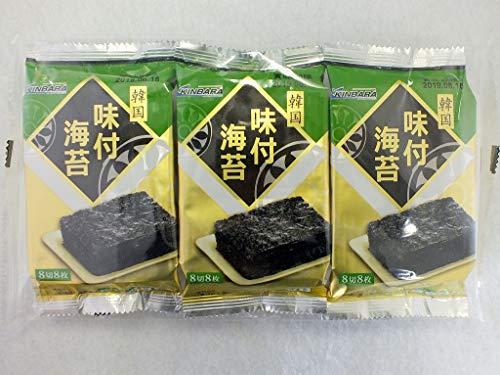 KINBARA 韓国産 味付け海苔 24枚 3コ入り ×8パック